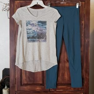 Other - Girls Old Navy shirt & leggings outfit